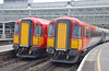 The last scheduled day of use for the Wessex units on SWT was 13 January 2007.<br /> This shot taken at London Waterloo shows 2411 & 2407 in adjacent platforms. Unit 2411 was failed due to an overheating bearing & returned ECS to Clapham yard.