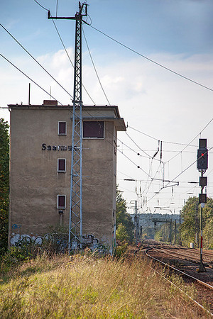 The disused signal box at Saarmund. 24th September 2010