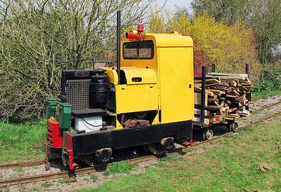 Simplex locomotive, Weston Zoyland Pumping Station Railway. Sunday 7th April 2013.
