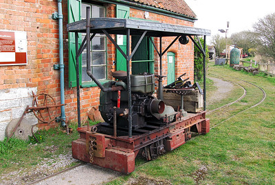 Ex Eclipse Peat Works Lister locomotive 34758, preserved at Weston Zoyland Pumping Station Railway. Sunday 7th April 2013.