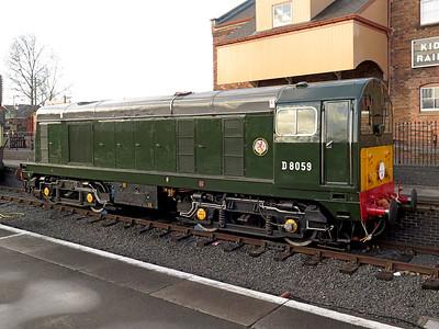 D8059 Kidderminster station, Severn Valley Railway. Friday 2nd January 2015.
