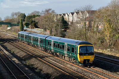 166 219 forming 9C73 11.00 Cardiff Central to Taunton passing Undy. Thursday 25th January 2018.