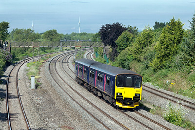 150131 forming 2C69 09.00 Cardiff Central to Taunton passes Undy. Saturday 12th Junly 2014.