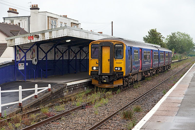150247 arrives at Avonmouth forming 2K28 14.34 Bristol Temple Meads to Avonmouth. Saturday 19th July 2014.