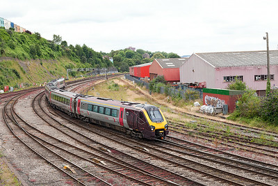221126 forming the 1S45 09.25 Plymouth to Aberdeen arrives at Bristol Temple Meads. Wednesday 9th July 2014.