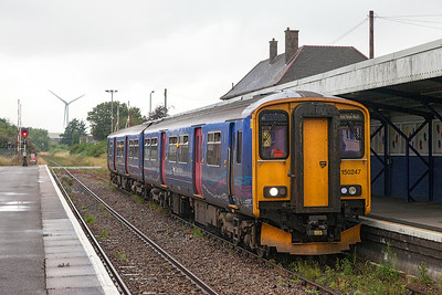 150247 waits to depart from Avonmouth forming 2K29 15.16 Avonmouth to Bristol Temple Meads. Saturday 19th July 2014.