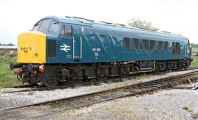 Class 45 No. 45133 in the loco yard at Swanwick Junction, Friday 20th May 2011.