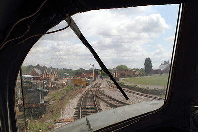 View from driver's seat on Class 44 D4, Swanwick Junction. 20/05/2011