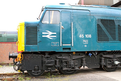 Class 45 No. 45108 on shed at Swanwick Junction having it's batteries charged. 20/05/2011