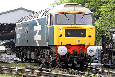 47580 'County of Essex' WCR shed Carnforth. 17/05/2011