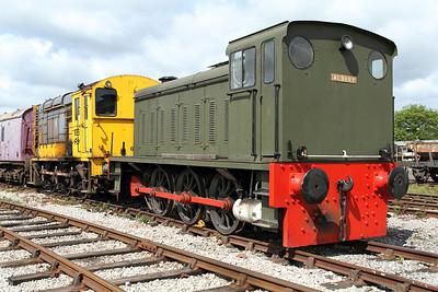 Hudswell Clarke 0-6-0 diesel shunter. MRC, 20/05/2011
