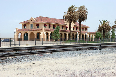 UP Kelso Depot on the Salt Lake route. Following colsure by the UP it was restored in 2005 as a vistor centre for the Mojave National Preserve. 04/05/2007.