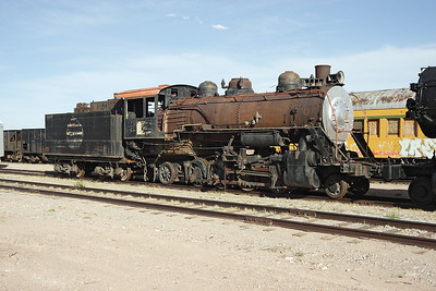 Pacific Lumber Company No. 35. A 1923 Baldwin 2-8-2. Nevada Southern Railway, Boulder City. Locomotive will be comestically restored only. Due to costs it will not be restored to running order. 02/05/2007.