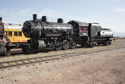 UP 6264 Ex UP 624 a 1907 Baldwin 2-8-0. Nevada Southern Railway, Boulder City. Since this photograph the locomotive has been fully cosmetically restored and placed on display at their museum site. Due to costs will not be returned to running order. 02/05/2007.