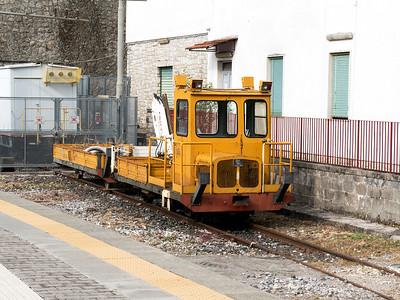 Circumvesuviana on track plant stabled at Vico Equense. Tuesday 26th May 2015.