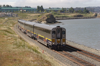 2012 (F59PHI) pushes an Amtrak California service northbound from Oakland at Hurcules. 09/05/2007.