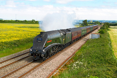 """60009 'Union of South Africa' passes Brean Road, Lympsham with the """"Royal Duchy"""" Bristol Temple Meads to Par. Sunday 9th June 2013."""