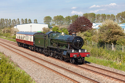 4936 'Kinlet Hall' with support coach 17015 running as 5Z36 11.40 Kidderminster SVR to Bishops Lydeard WSR. Thursday 15th May 2014.