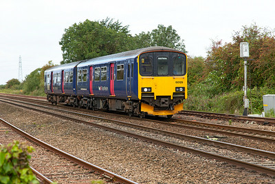 150129 approaches Yatton forming 2D10 11.10 Weston-super-Mare to Bristol Parkway. 29th August 2014.