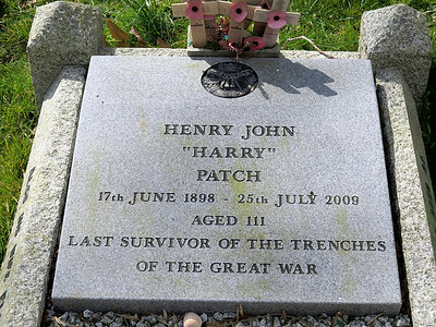 Harry Patch's grave at Monkton Combe.
