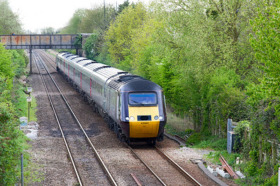 43303 heads the 1E63 15.25 Plymouth to Leeds past Worle Parkway. 43285 is the rear power car. Monday 17thApril 2017