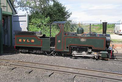 Evesham Vale Light Railway 'Dougal'. Wednesday 21st August 2013.