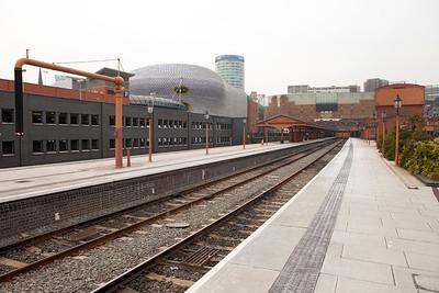 The restored bay platforms at Birmingham New Street. Thursday 9th February 2012.