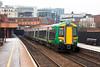 172343 departs from Birmingham Moor Street mainline platforms on a service to Dorridge. Thursday 9th February 2012.