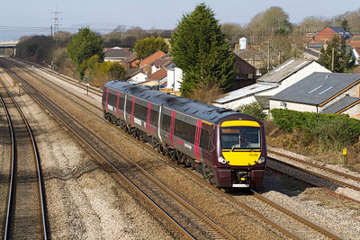 170105 forming the 09.45 Cardiff to Notingham via Derby passes Magor, Thursday 8th March 2012.