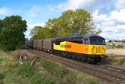 Colas Rail's 56087 passes Chellaston with 6E07 11.51 Washwood Heath to Boston Docks. Friday 12th October 2012.
