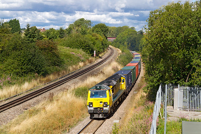 70019 climbs towards Patchway station with 4O59 10.44 Wentloog to Southampton Maritime Container Terminal. Saturday 7th September 2013
