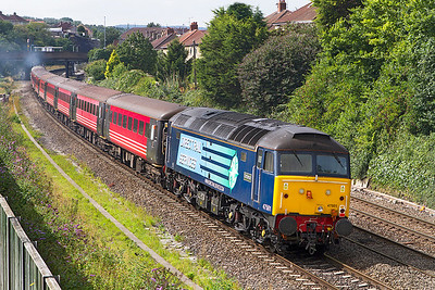 47501 'Craftsman' brings up the rear of 1Z72 approaching Parson Street. Monday 2nd September 2013.