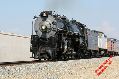 AT&SF Steam Locomotive 3751 April 2012