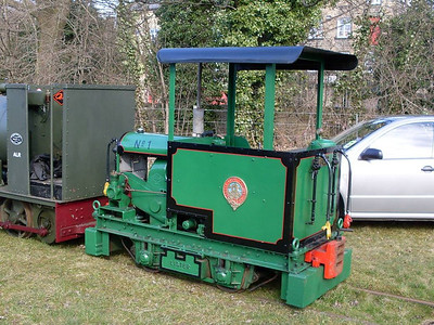 "1 ""Loweco"" (Lister 20449/1942) in the sidings at Bridge Road."