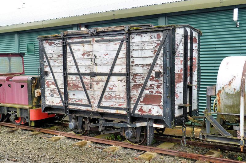 No No. 4w Non Vent Van Plank 'Box Van' - Almond Valley Heritage Centre 14.10.12   Jim Sellens
