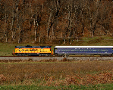 B&O #6240 pulls passengers towards Petersburg, WV