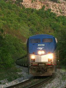 Amtrak #130 passes through the Narrows outside of Cumberland, MD
