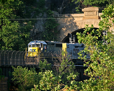 CSX #6461 passes through Harpers Ferry, West Virginia