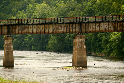 Western Maryland Railway bridge in Confluence, Pennsylvania
