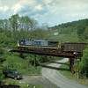 Tail end of a T104 arriving at Robinson Run, WV for loading. 2000.