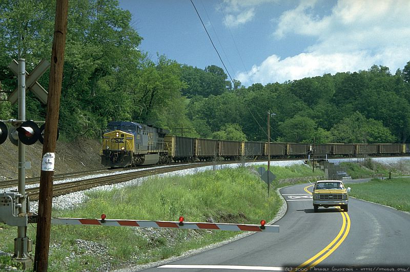 T104 en route to Robinson Run, WV for loading. 2000.