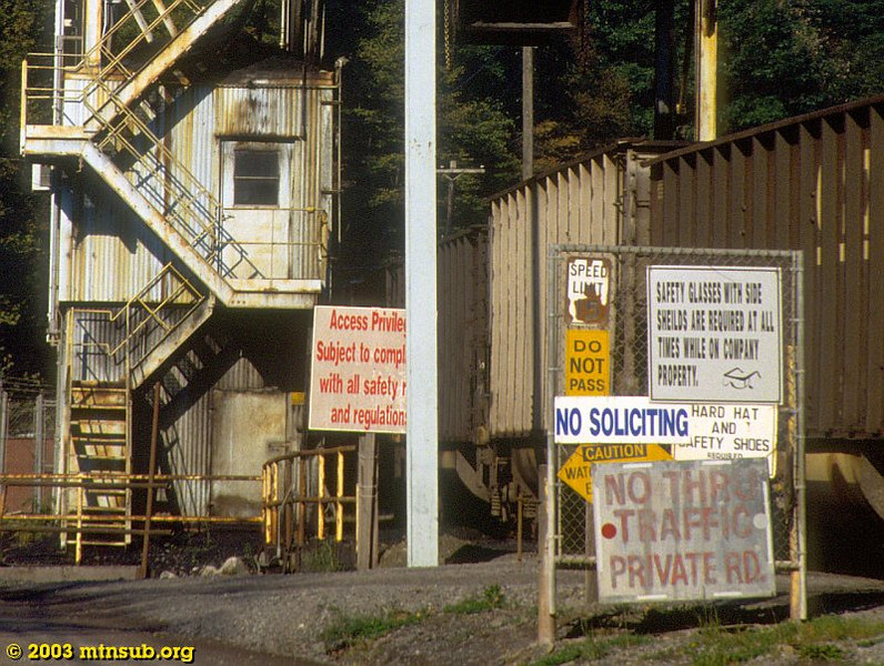 Brooks Run mine, WV. 2003.