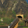 View towards Maryland Heights from Harpers Ferry, WV. April 2002.