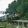 Westbound Q200-series auto carrier train at Cherry Run, MD. 2000.