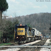 "Standard cab GEs on a westbound ""Jet"" passing through Rockwood, PA. 2002."