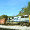 Rear end helper on a westbound Q300-series train at Fairhope, PA. 1999.