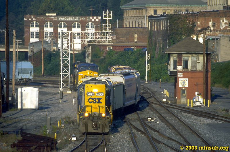 The Buckhannon switcher returning to Grafton, WV. 2003.