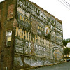Painted advertising on an old building in Grafton, WV. 1999.