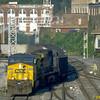 Coal drag off the Cowen Sub entering Grafton, WV. 2003.