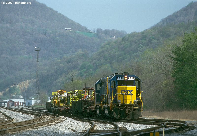 Work train at West Keyser, WV. April 2002.